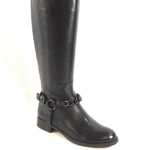 Coach New MABEL Riding Tall Boot BLACK Leather